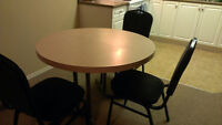 Moving out! Selling: chair, kitchen table w/ chairs