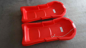 Plastic Snow sleds - 2 pieces
