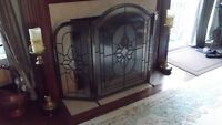 LEADED  GLASS  FIREPLACE  SURROUND / SCREEN