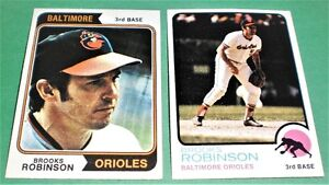 1973-74  BROOKS ROBINSON  TOPPS 90 AND 160  MINT