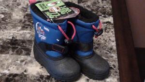 /-NEW Botte d'hiver pour garçon Boys winter boots size 7 -30 deg