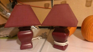 Two stand lamps