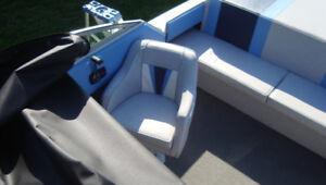 Cuddy Cabin Sunbird 218 Boat with Tandem Trailer