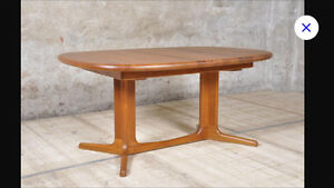 Glostrup Danish Solid Teak Dining Table