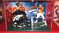 Autographed Peyton MANNING - Denver Bronco Football Display