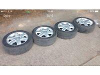 """Renault Megane 16"""" alloys + locking nuts."""
