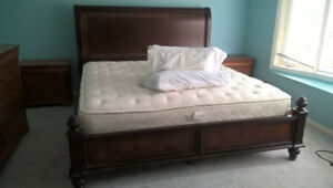 Moving sales: Bed (king) with mattress; kitchen table and more