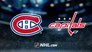 Capitals Washington vs Montreal Canadiens 309 CC à 160$ la paire