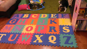 Foam alphabet and numbers