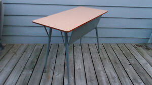 Mid Century Retro Metal and Laminate Top Desk Table