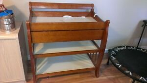 Baby change table with drawer