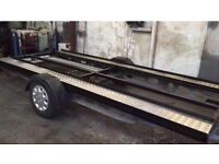 "SMALL CAR TRAILER ""BRAKED"" Track Day, Autograss, classic car, New Parts"