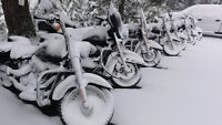 Winter Heated Motorcycle Storage