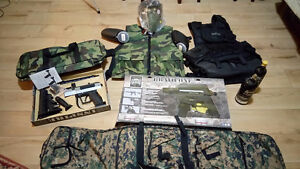 Complete set: Paintball Equipment