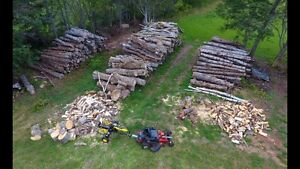 Firewood in lengths or split and delivered