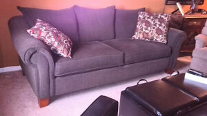 Large Charcoal Brown Couch