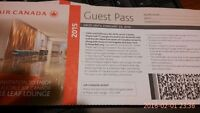 """Air Canada """"Maple Leaf Lounge"""" Guest Pass"""