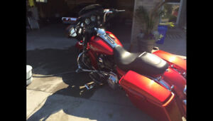 Saddlebags and fender bottoms 2013 steetglide. Ember sunglow red