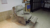 Fauteuil en tissus inclinable
