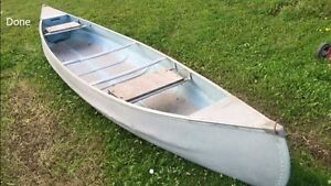16 foot lightweight aluminum canoe