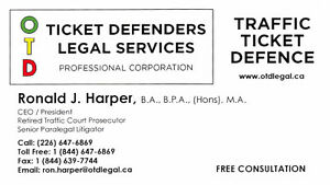 OTD Ticket Defenders Legal Services – Traffic Tickets Kingston Kingston Area image 2