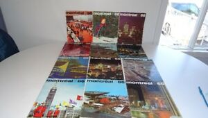 #2 Lot 12 Ancienne Revue Magazine Montreal 1966 / Expo 1967