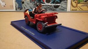 voiture tintin # 07 le jeep willys rouge
