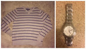 Men's Tommy Hilfiger Sweater and Watch