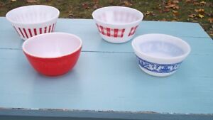 Vintage Pyrex Fire King Glass Bowls