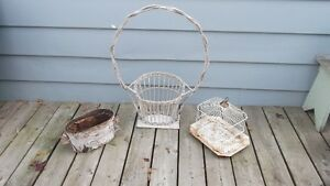 Antique Ceiling Tin Tile Old Chair Baskets and More