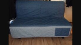 Ikea Lycksele 2 seater Futon with denim cover