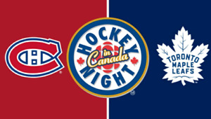2 Gold tickets Maple Leafs vs Canadiens - Last Home game of 2018