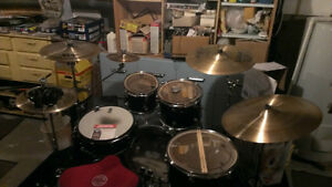 DDrum D2 drum set, Sabian AAX Cymbals and Mapex Black Panther