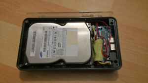 IDE external drive enclosure with 80GB Drive