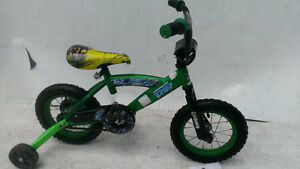 "2-5 year old Boys Bike 12"" Disney Turtles Nija & Training wheels"