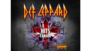3rd row from stage for Def Leppard ( below cost )