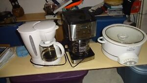 i have 2 coffee machines and one crockpot for sale