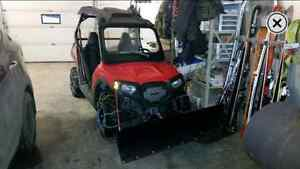 2013 rzr 570 with trail and plow