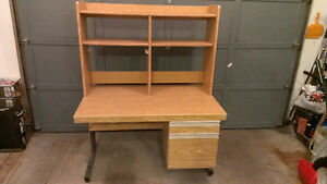 Free office desk with hutch