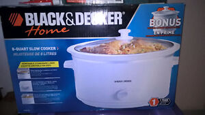Black & Decker 8 quart slow cooker+1.5 quart slow cooker
