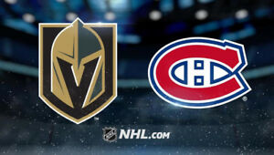 Montreal Canadiens vs Vegas Golden Knights - Section 103 row L!