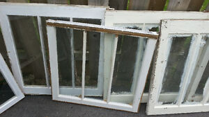 LOT OF 14 STORM WINDOWS Old Antique Vintage COUNTRY DECOR