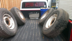 Chevy c20 8 lug wheels and tires