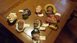 VINTAGE  LOT  OF  BOSSON HEADS