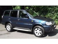2004 NISSAN TERRANO 3.0 DI LWB SPORT 4x4 7 SEATER MOT 1 YEAR EXCELLENT CONDITION P/X SWAP