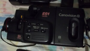 Canon Canovision 8 E61 Camcorder  Original Case Manual Charger