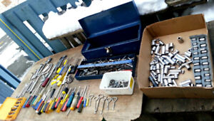 Big Blue Toolbox LOADED with Wrenches Sockets Ratchets ect