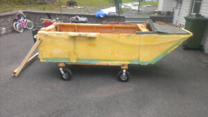 Highly Mobile Wooden Boat With Hand Cart