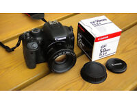 Canon 500d and 50mm F1.8 lens