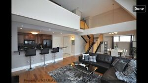 Two bedroom loft style condo